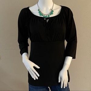 2/$20 Black Solid Women's Blouse size Small